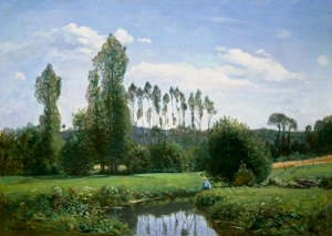 monet view at rouelles