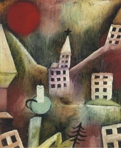 Paul Klee Zerstörtes Dorf (recto) Ohne Titel (verso)
