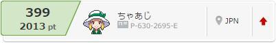 S12シンレ 最終レート 2013 399位