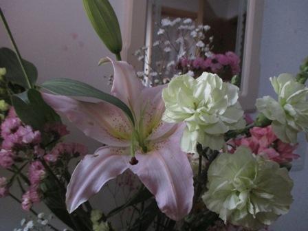 教室のお花4月①