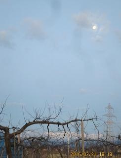 月中天の懸かる