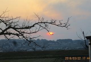 日の入り間近