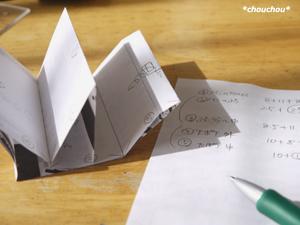 型紙 試作 折り畳み