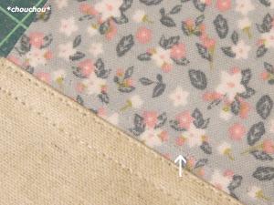 ビニコ祭り 小花 縫い目