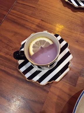 パープルのお茶