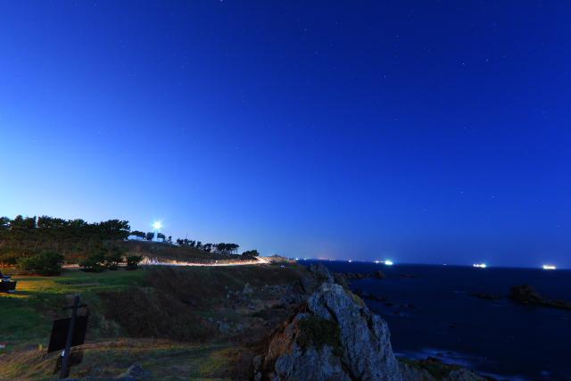 月夜の葦毛崎展望台4