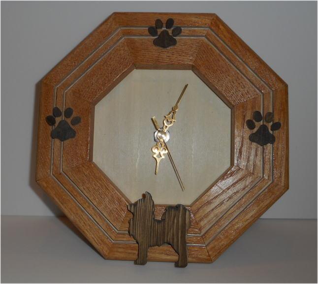 時計八角シルエットニス塗り