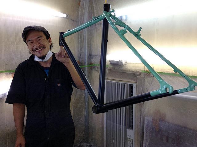 アラカラー 自転車塗装