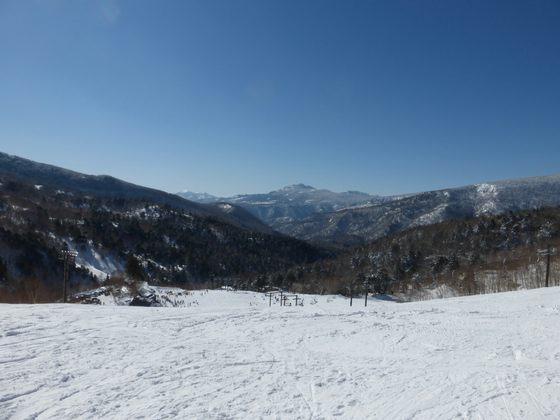 万座温泉スキー場のゲレンデ