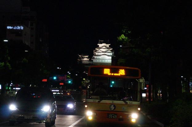 ライトアップされた姫路城