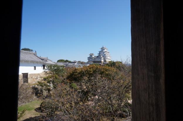 窓から見た姫路城