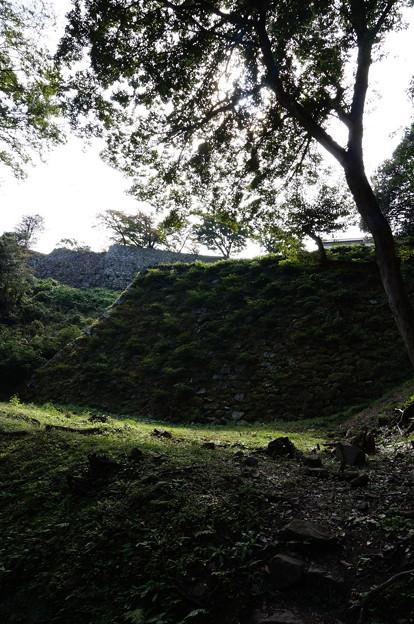 潜入しにくい仕様の石垣