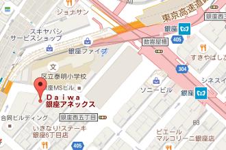 ラココ銀座本店地図
