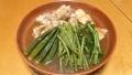 鶏といんげん、オクラ、菜花の煮物 20160327