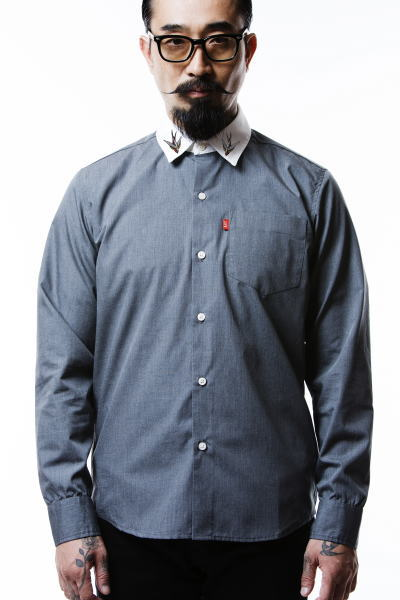 SOFTMACHINE NAVIGATION SHIRTS LIFE SLIM STRETCH PARKES GLASS