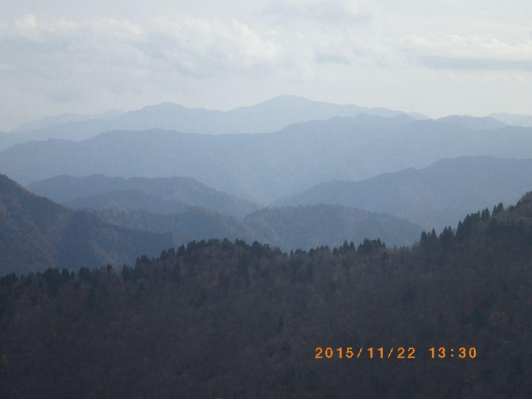 武奈ヶ岳が見えた