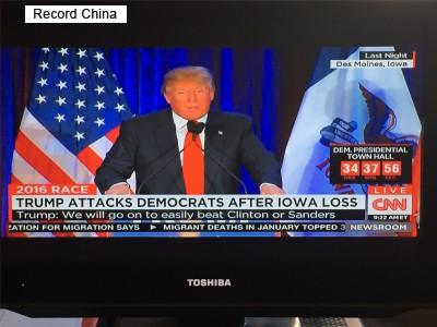 2016年3月23日、環球時報は米大統領選の共和党候補指名争いで注目を浴びるドナルド・トランプ氏に米紙ワシントン・ポストが行ったインタビューの内容を紹介した。写真はトランプ氏。(Record China)