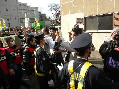 20160327日韓スワップより 日本へのヘイトに制裁を!デモin新宿、平成28年3月27日しばき隊