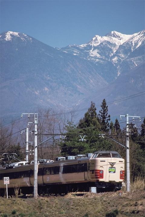 620405穴山駅-日野春駅間_特急あずさ_2