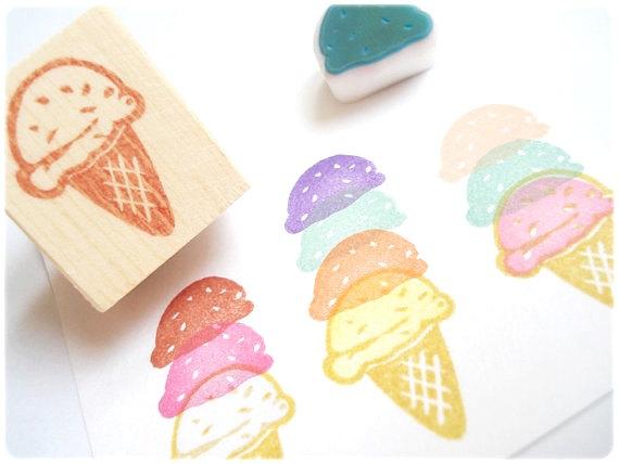アイスクリームスタンプ