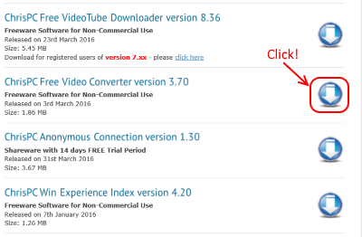ChrisPC Free Video Converter ダウンロード