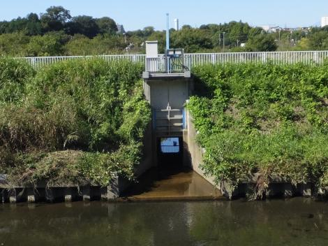 大庭遊水地排水ゲート