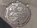 神奈川県営水道のマンホールフタ