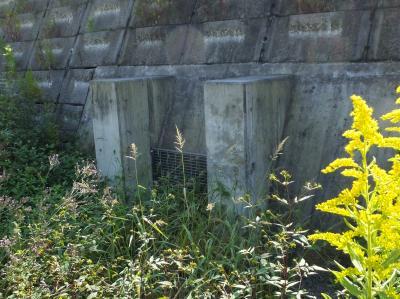 境川の遊水池排水ゲート・鶴金橋上流