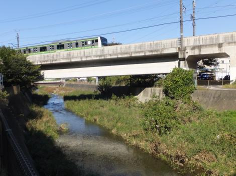 境川を渡るJR横浜線