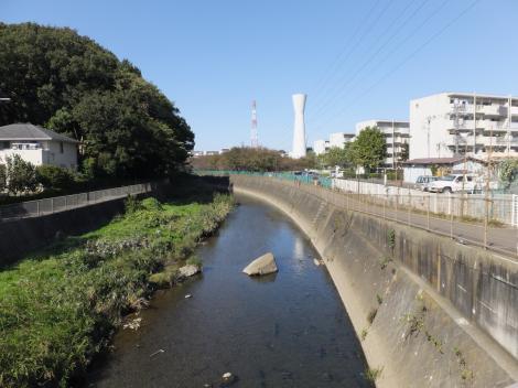 境川橋より境川上流を望む