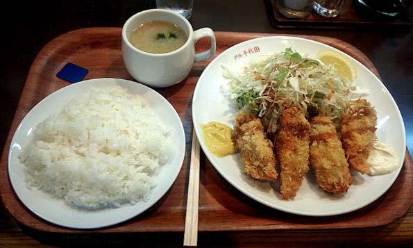 20150924 グリル千代田 カキフライ 750円 21㎝12430000