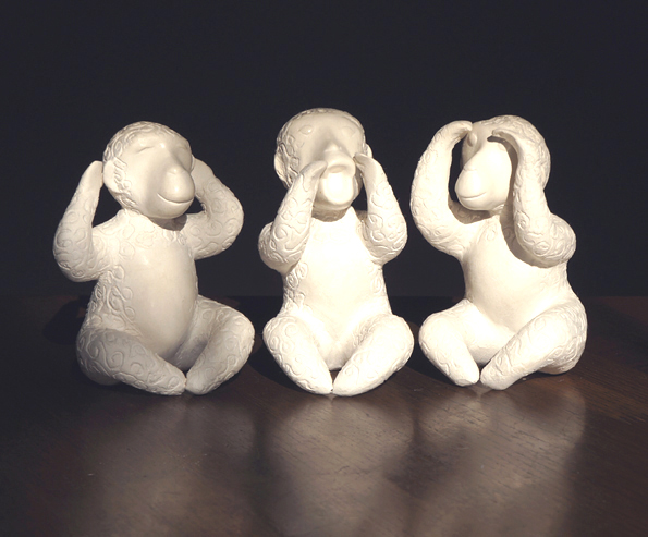 20151028 Three Wise Monkeys finish 21cm DSC06103