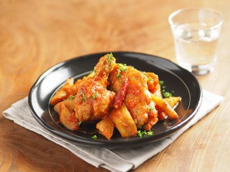 鶏とごぼうのトマト煮カチャトーt26