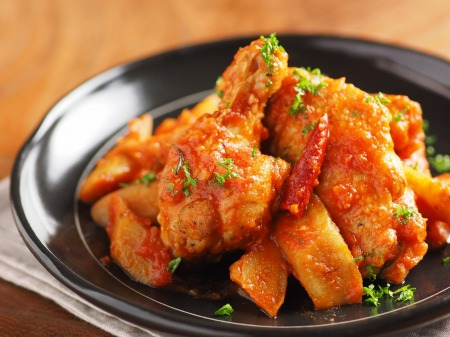 鶏とごぼうのトマト煮カチャトーt11