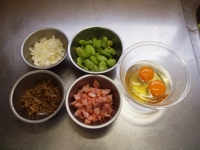 そら豆とザーサイのチャーハンt45