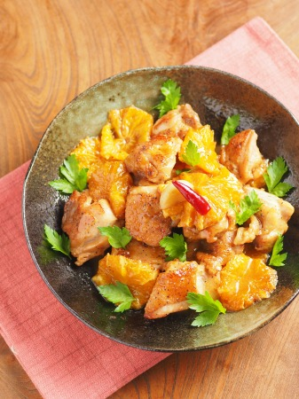 鶏もも肉のオレンジ煮t08