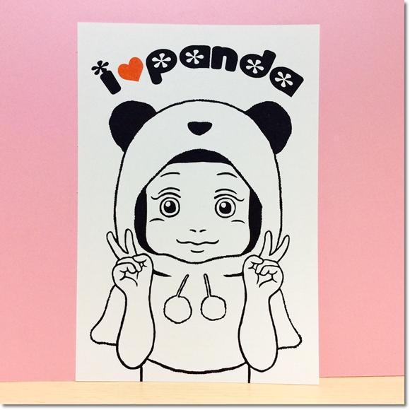 前髪ぱっつんガールまりのパンダ大好きはんこ♪の巻