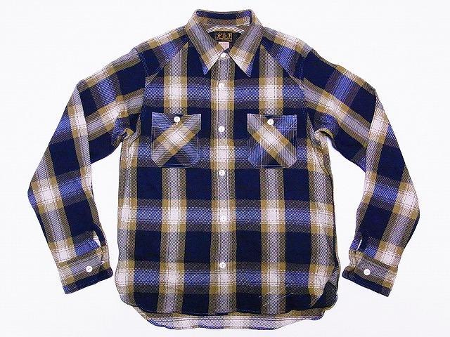 クッシュマン ネルシャツ 25501 (ゴールド)