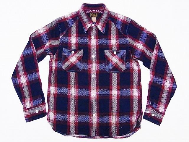 クッシュマン ネルシャツ 25501 (レッド)