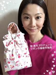桜 美月プロデュースリボン巾着マカロンとカップケーキ