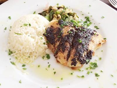 白身魚のタプナードソース