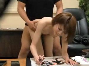 書道教室でゲスな男にレイプされながら指導される巨乳素人女子校生を盗撮!