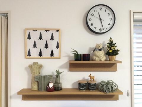 無印良品 壁に付けられる家具 飾り棚 北欧雑貨 ディスプレイ 北欧インテリア クリスマス KIVI マリメッコ