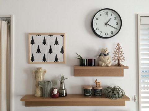 無印良品 壁に付けられる家具 飾り棚 北欧雑貨 ディスプレイ 北欧インテリア クリスマス KIVI マリメッコ リサラーソン セリア seria
