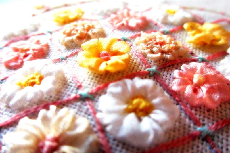 リボン刺繍初心者用サンプル画像