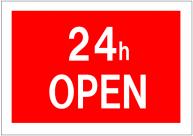 24h_OPENの看板テンプレート・フォーマット・雛形