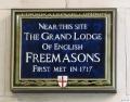 United Grand Lodge Plate