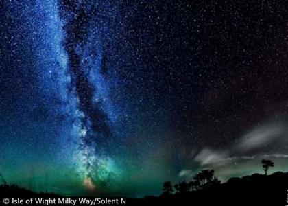 英国ワイト島の夜空