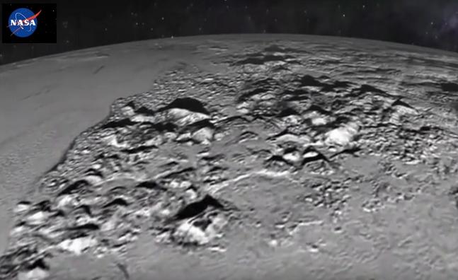 冥王星の地表面