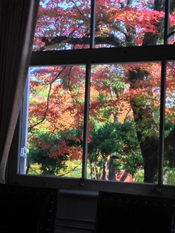 邸内からの紅葉